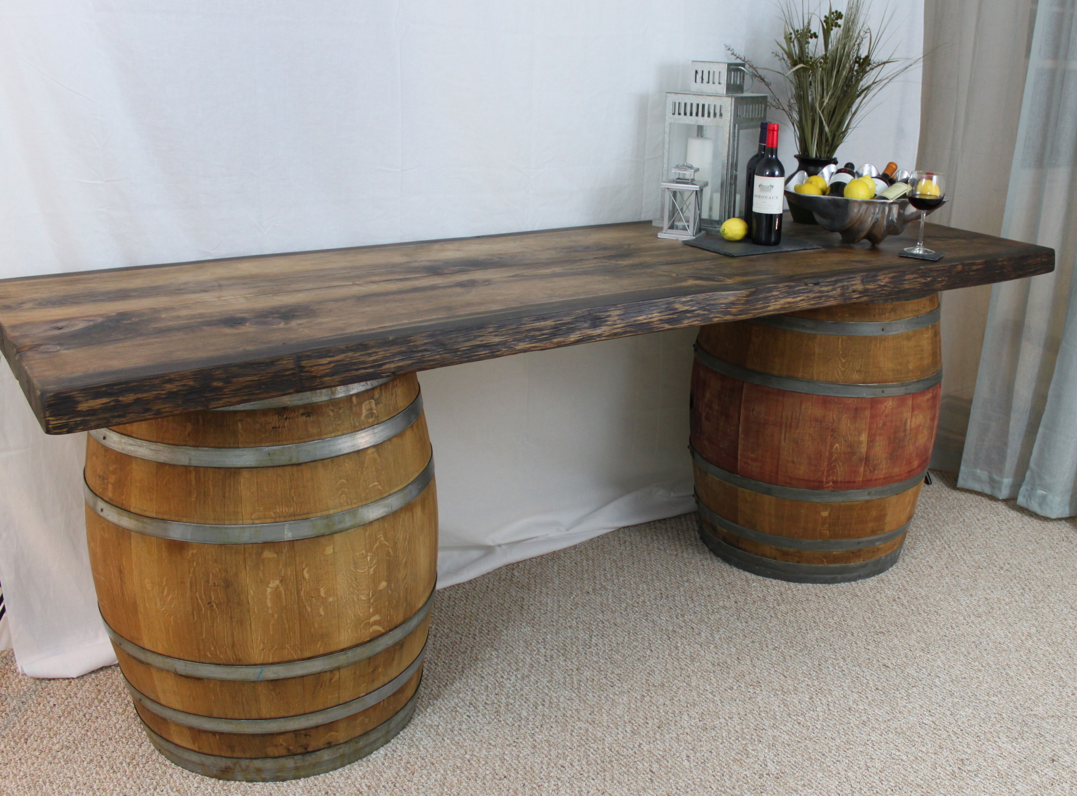 Pleasing Oak Barrel Table Bar Download Free Architecture Designs Scobabritishbridgeorg